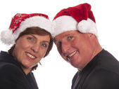 Attractive christmas couple — Stock Photo