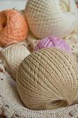 Pastel bavlna přadének — Stock fotografie