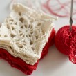 Crocheted pattern - grandma - Stock Photo