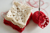 Crocheted pattern - grandma — Stock Photo