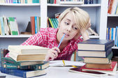 Cute blonde student girl — Stock Photo