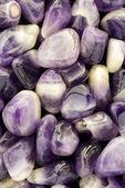 Large Tumbled Amethyst Background — Stock Photo