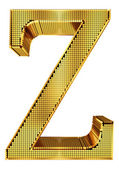 Rich Golden Cube Alphabet - Z — Stock Photo