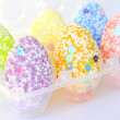 Pastel colors Easter eggs — Stock Photo #22340855