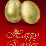 Golden Easter Eggs — Stock Photo