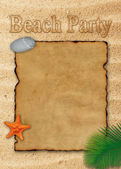 Beach Party Illustration — Stock Photo