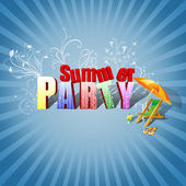 Summer Party Illustration — Stock Photo