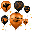 Stock Photo: Halloween Party Balloons