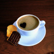 Cup Of Heart Coffee — Stock Photo
