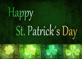 Grungy St. Patrick´s Day Shamrocks — 图库照片