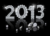 Brilliant New Year 2013 — Stock Photo