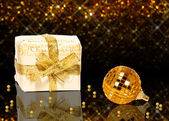 Elegant Golden Christmas — Stock Photo