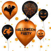 Halloween Party Balloons — Stock Photo