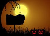 Cadılar bayramı siluet işareti — Stok fotoğraf