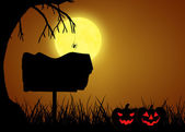 Halloween Silhouette Sign — Stock Photo