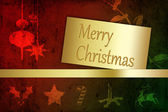 Grungy Merry Christmas Illustration — Stock Photo