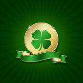 St. Patrick´s Day Coin — Stock Photo
