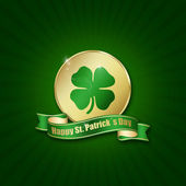 St. Patrick´s Day Coin — 图库照片