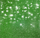 St. Patricks Day Glitter Clover Illustration — Stock Photo