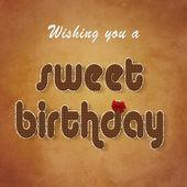 Sweet Chocolate Birthday Wish — Stock Photo
