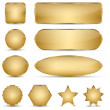 Blank Elegant Golden Buttons — Stock Vector #24068761