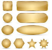 Blank Elegant Golden Buttons — Stock Vector