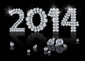 Brilliant New Year 2014 — Stock Photo