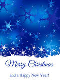 Snowy Merry Christmas — Stock Photo