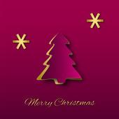 Christmas Tree Paper Art — Stock Vector