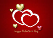 Elegant Golden Valentine Hearts — Stock Photo