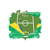 Homeland Soccer Football Brazil — Stock Photo