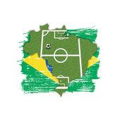 Homeland Soccer Football Brazil — Stock Photo