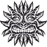 Sun tattoo — Stock Vector