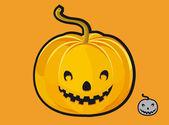 Funny pumpkin — Stock Vector