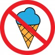 No Ice Cream — Stock Vector