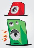 音频扬声器 — 图库矢量图片