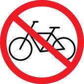 No bikes — Stock Vector