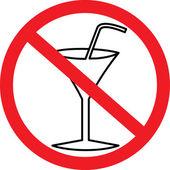 Sin alcohol! — Vector de stock