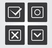 Website and Internet icons: symbols — Stock Vector