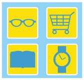 Website and Internet icons: Shopping — Stock Vector