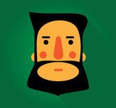 Enkel web Illustration: skägg och mustascher — Stockvektor