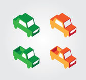 Simple web icon in vector: isometric transport — Vecteur