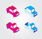 Simple web icon in vector: isometric transport — Stock Vector