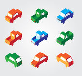 Simple web icon in vector: isometric transport — Stok Vektör