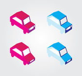 Simple web icon in vector: isometric transport — Vetorial Stock