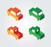 Simple web icon in vector: isometric transport — ストックベクタ