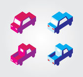 Simple web icon in vector: isometric transport — Stockvector