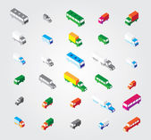 Simple web icon in vector: isometric transport — Cтоковый вектор