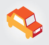 Simple web icon in vector: isometric transport — Vector de stock