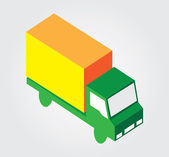 Icono web simple en vector: transporte isométrica — Vector de stock